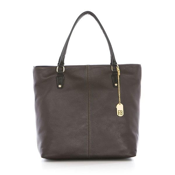 Hnedá kožená kabelka Federica Bassi Harmonia
