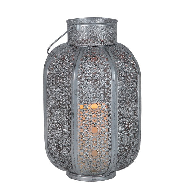 Strieborný LED lampáš Best Season Oriental