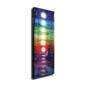 Nástenný obraz na plátne Lights, 30 × 80 cm