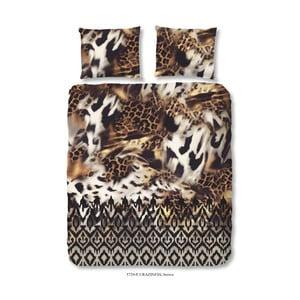 Hnedé obliečky z bavlny na dvojlôžko Muller Textiels Craziness, 200×200 cm