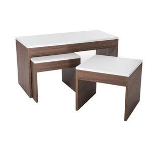 Konferenčný stolík so 2 stoličkami Sebboy Walnut