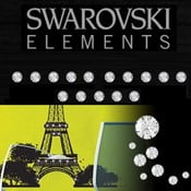 Sada 15 adhezívnych Swarovski krištáľov Fanastick Crystal