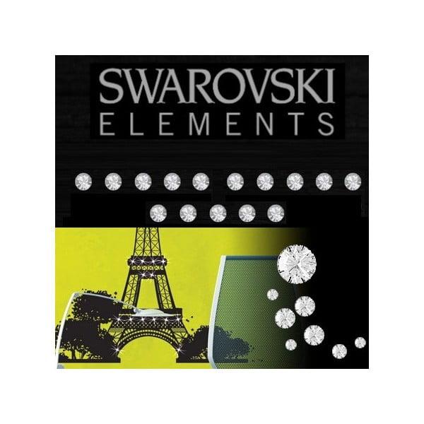 Sada 15 adhezívnych Swarovski krištáľov Fanastick Crystal, ⌀ 3 mm