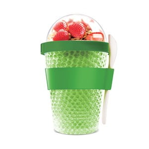 Zelený termotéglik na jogurt Chill Yo 2 Go