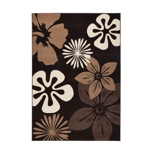 Koberec Hanse Home Gloria Flower Brownie, 80 x 150 cm