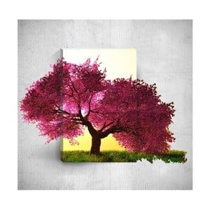 Nástenný 3D obraz Mosticx Purple Tree, 40×60 cm