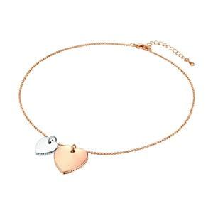 Dámsky náhrdelník vo farbe ružového zlata Runaway Heart