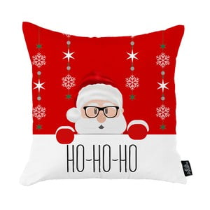 Červená vianočná obliečka na vankúš Apolena Honey Christmas Santa Claus Ho-Ho-Ho, 45 x 45 cm