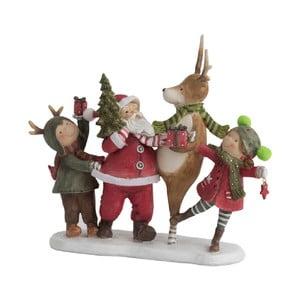 Dekoratívna vianočná soška J-Line Santa Dance
