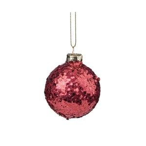 Červená vianočná závesná ozdoba s trblietkami Butlers, ⌀ 6 cm