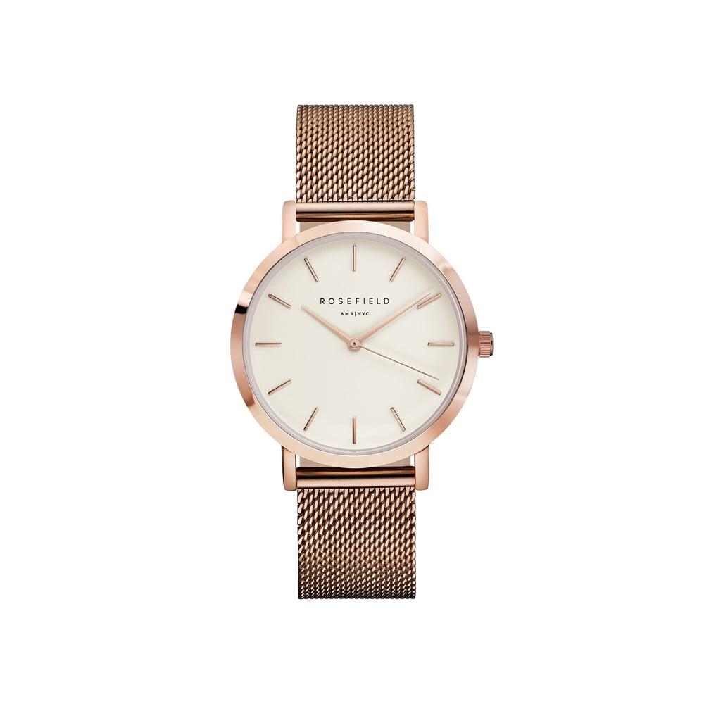 Dámske hodinky s bielym ciferníkom Rosefield The Mercer  1345c41f4e0