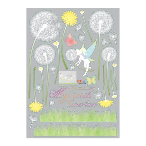 Samolepka Ambiance Dandelion and Little Fairy