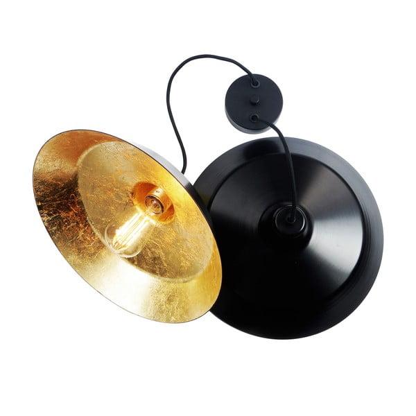 Sada 2 svietidiel Bulb Attack Cinco, čierna/zlatá