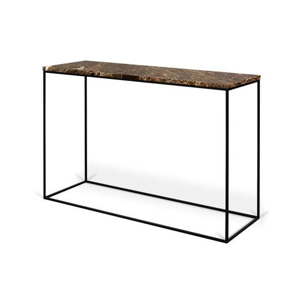 Konzolový stolík s doskou z hnedého mramoru TemaHome Gleam