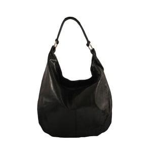 Čierna kožená kabelka Chicca Borse Francisca