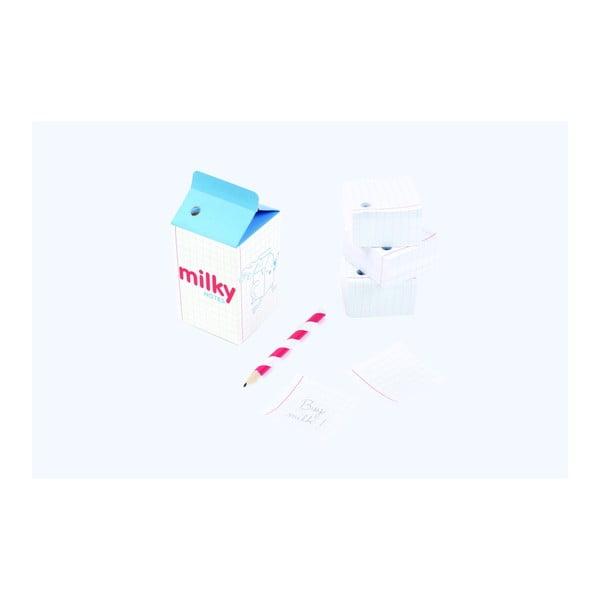 Poznámkový bloček s ceruzkou DOIY Milky Notes