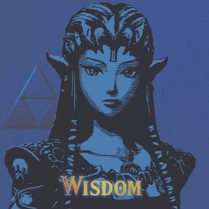 Obraz Pyramid International The Legend Of Zelda Wisdom, 40 × 40 cm