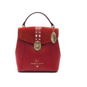 Červený kožený dámsky batoh f.e.v. by Francesca E. Versace Rismo