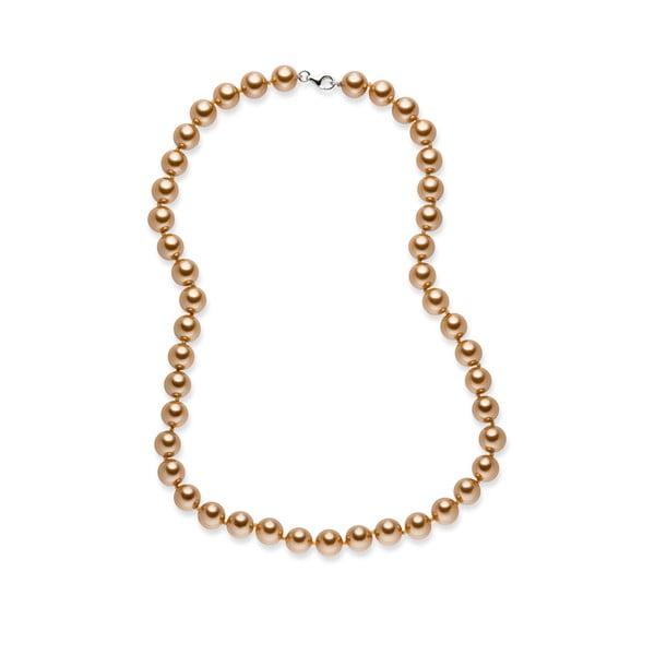 Zlatý perlový náhrdelník Nova Pearls Copenhagen Mara de Vida, 50 cm