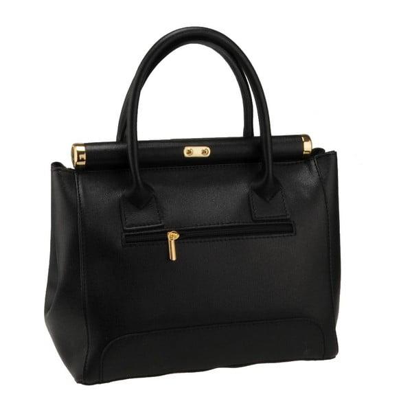 Čierna kožená kabelka Florence Abete
