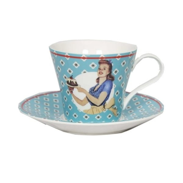 Hrnček s tanierikom Antic Line Vintage Bleu