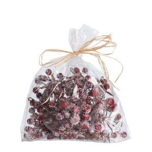 Vrecúško dekoratívnych červených bobúľ J-Line Berries