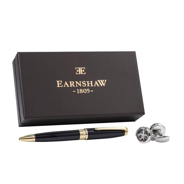 Set guľôčkového pera a manžetových gombíkov Thomas Earnshaw Silver