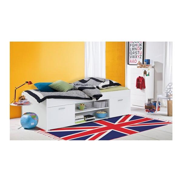 Biela jednolôžková posteľ 13Casa Carlo, 90 x 200 cm