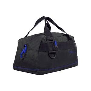 Čierna cestovná taška s modrýmlemom Les P'tites Bombes Toulouse, 17 l