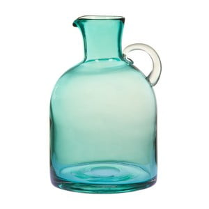 Tyrkysová sklenená váza / džbán na vodu Santiago Pons