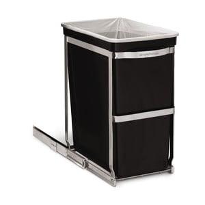 Vstavaný odpadkový kôš Inside 30 l, čierny