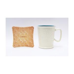 Hrnček na latté s podnosom v tvare sušienky Silly Design Coffe Bar Sky, 370 ml