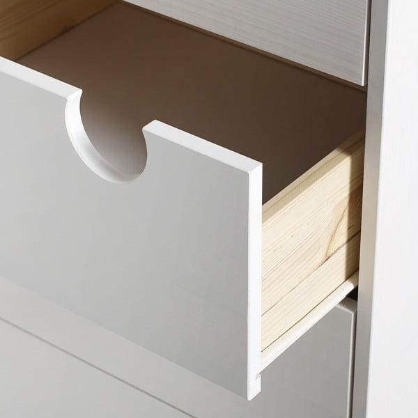 Komoda so štyrmi zásuvkami Karup Design House White/Natural