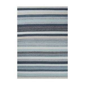 Modrý vlnený koberec Linie Design Mariko, 140x200cm