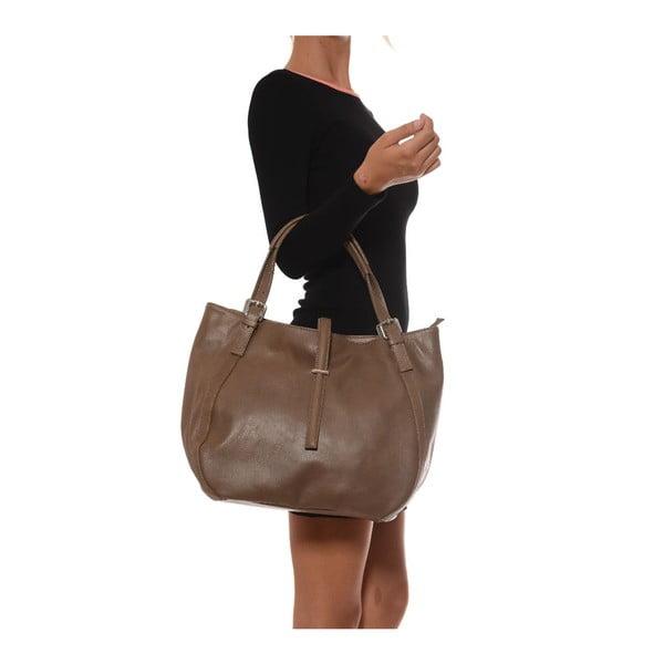 Sivo-hnedá kožená kabelka  Isabella Rhea Eva