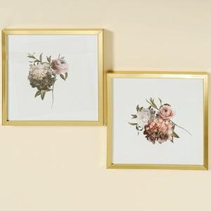 Sada dvoch obrazov v zlatých rámoch Boltze Bloom