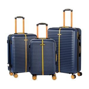 Sada 3 modrých kufrov Travel World Amazonia