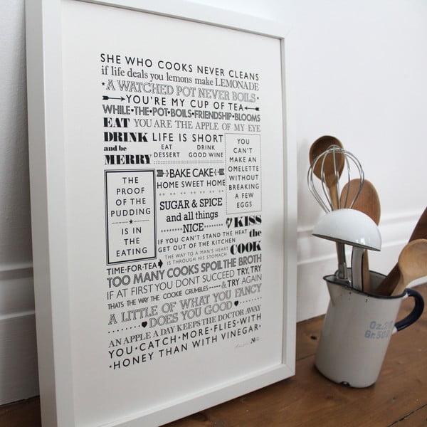 Plagát She Who Cooks, 30x40 cm