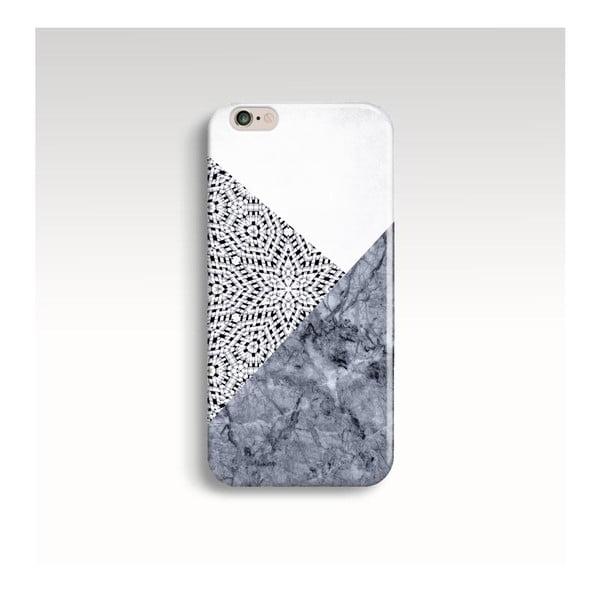 Obal na telefón Marble Mandala Grey pre iPhone 6+/6S+