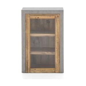 Sivá nástenná skrinka z borovicového dreva Woodking Stonewall