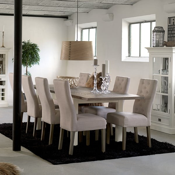 Biely rozkladací jedálenský stôl Canett Skagen Butterfly, 220 cm