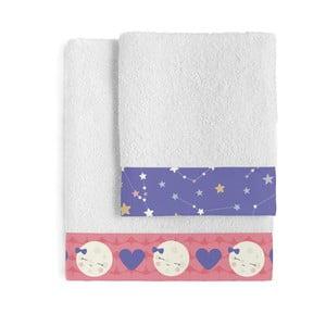 Set osušky a uteráka Happynois Moon Dream