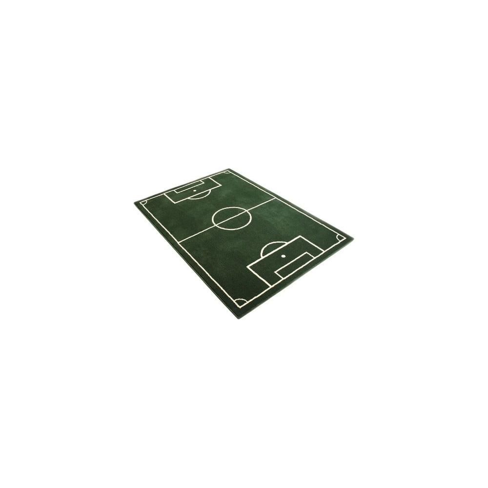 Detský zelený koberec Hanse Home Football Field, 120 × 170 cm