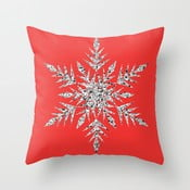 Obliečka na vankúš Snowflake Red, 45x45 cm