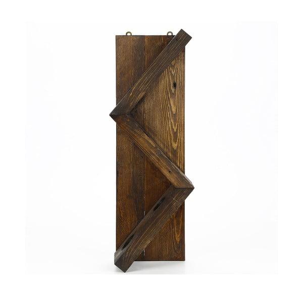 Ručne vyrábaný stojan na víno z masívneho dreva Catalin Sofia, 60 × 33 × 12 cm