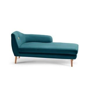 Tmavozelená leňoška Scandi by Stella Cadente Maison Lounge, pravý roh
