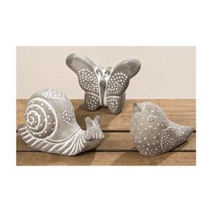 Sada 3 dekoratívnych sošiek Boltze Ellen