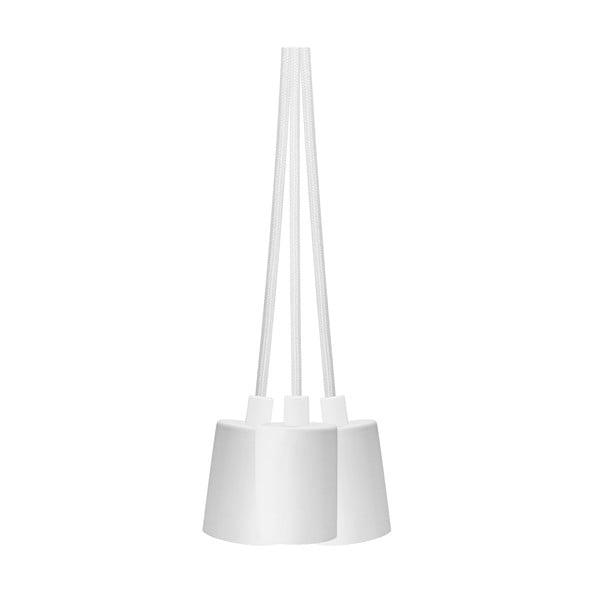 Biele závesné svietidlo s 3 káblami Bulb Attack Cero Group
