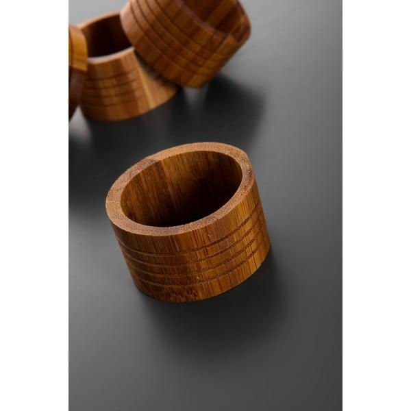 Sada 6 bambusových krúžkov na obrúsky Bambum