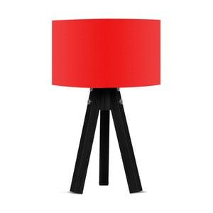 Stolová lampa s červeným tienidlom Kate Louise Blackie